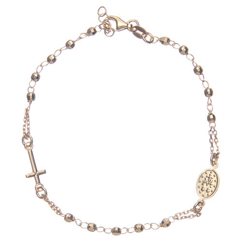 Bracciale rosario colore dorato argento 925 2