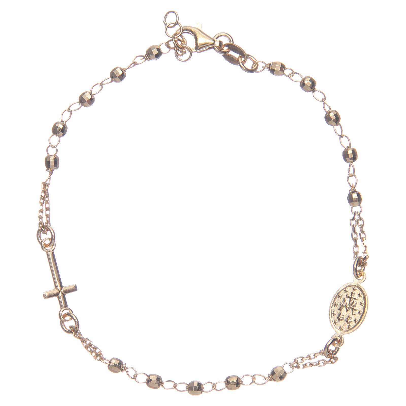 Rosary bracelet gold 925 sterling silver 4