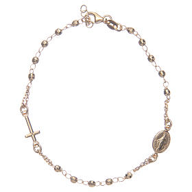 Rosary bracelet gold 925 sterling silver s1