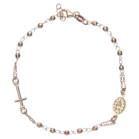 Rosary bracelet gold 925 sterling silver s2
