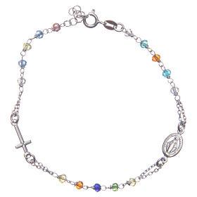 Bracciale rosario colore multicolor argento 925 s1