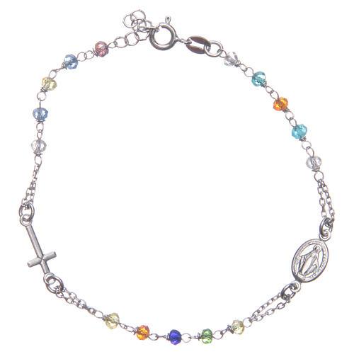 Bracciale rosario colore multicolor argento 925 1