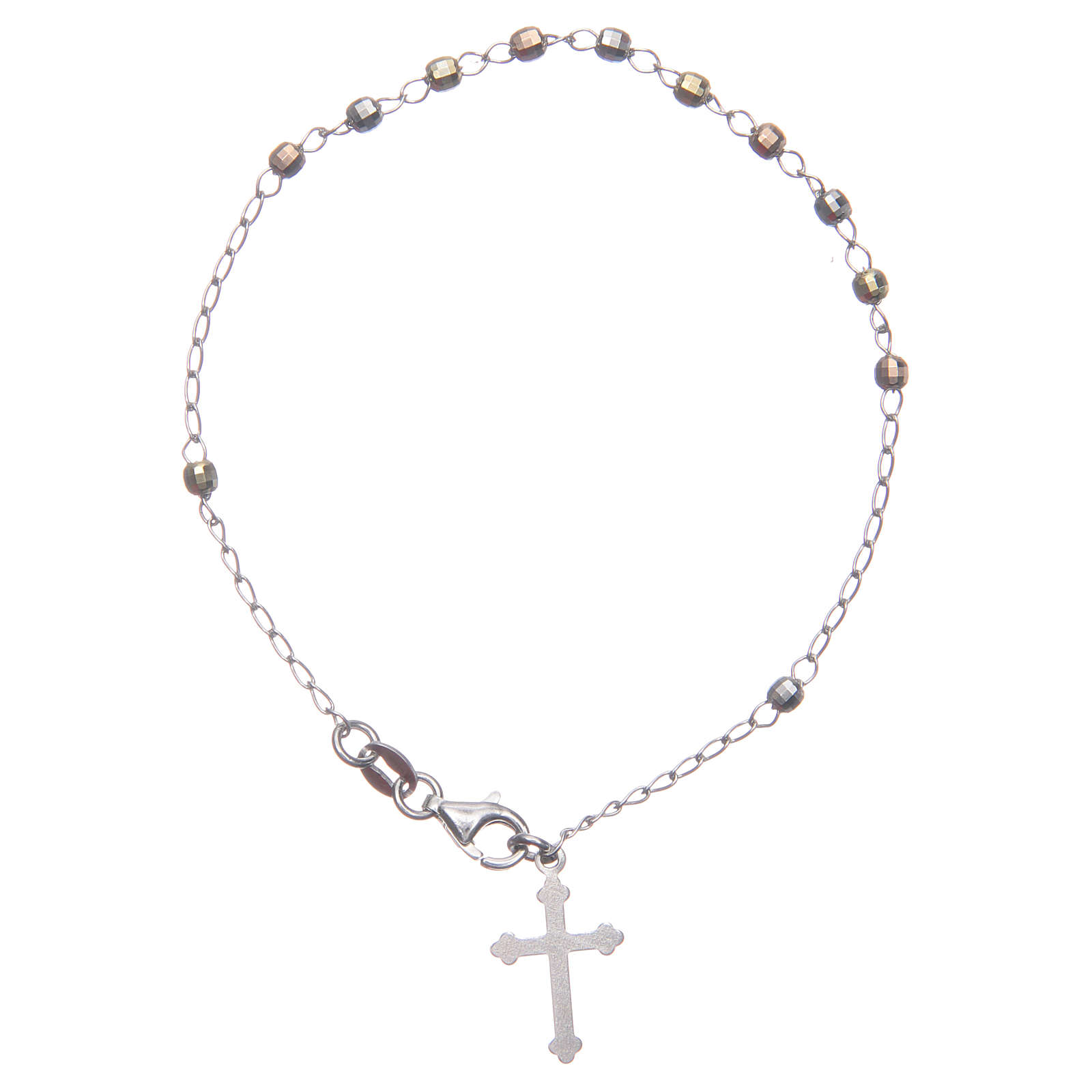 Rosary classical multicoloured bracelet 925 sterling silver 4