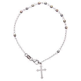 Bracciale rosario classico multicolor argento 925 s1