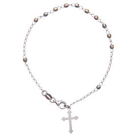 Rosary classical multicoloured bracelet 925 sterling silver s1
