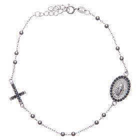 Bracciale rosario silver zirconi neri argento 925 s1