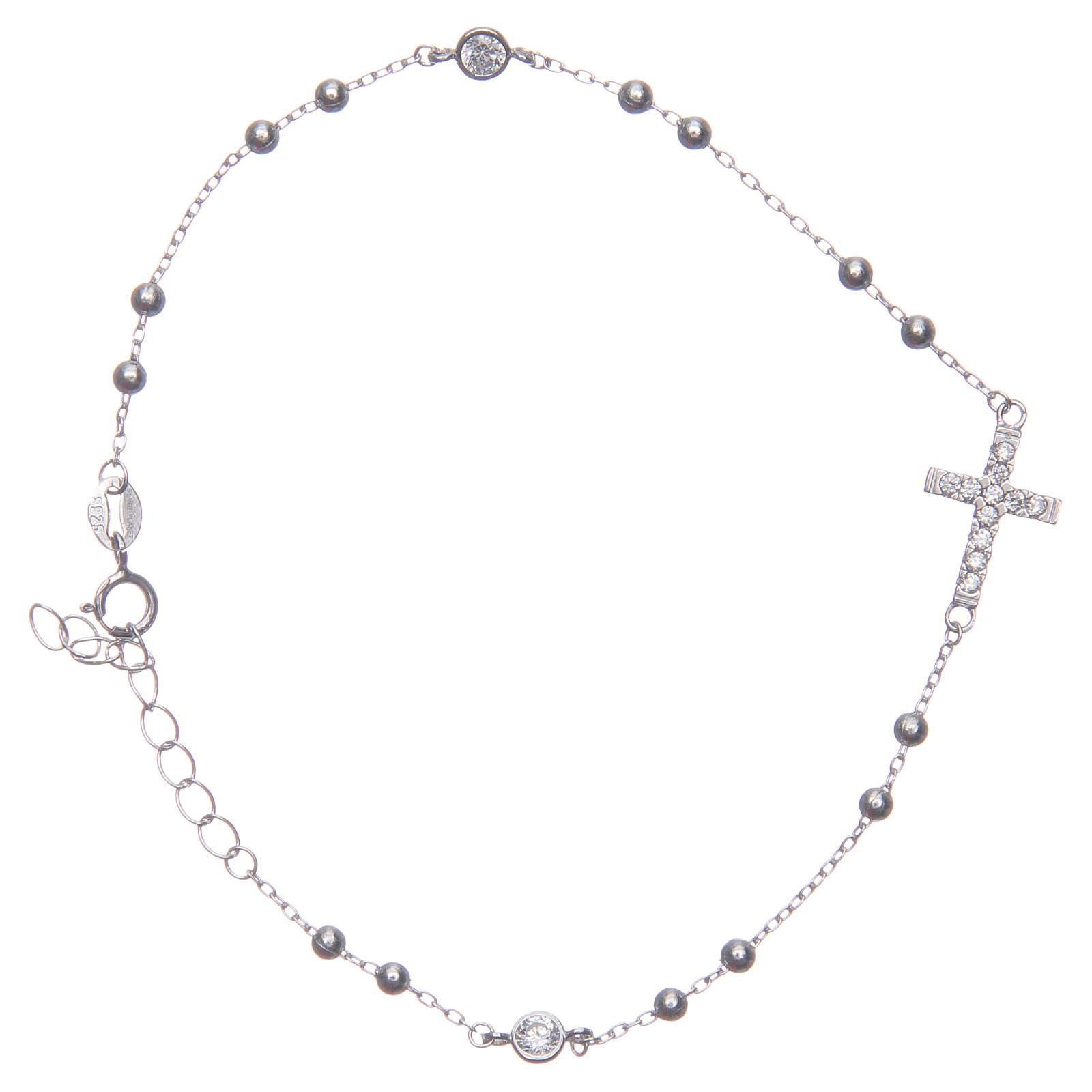 Pulsera rosario Santa Rita silver zircones blancos plata 925 4