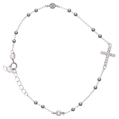 Pulsera rosario Santa Rita silver zircones blancos plata 925 2