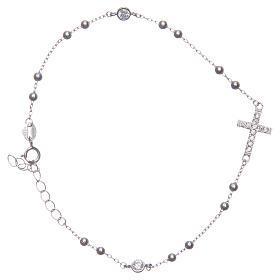 Bracciale rosario Santa Rita silver zirconi bianchi argento 925 s2