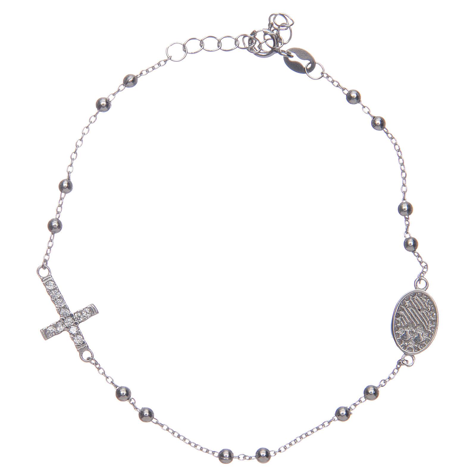 Braccialetto decina Santa Rita silver zirconi bianchi argento 925 4