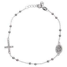 Braccialetto decina Santa Rita silver zirconi bianchi argento 925 s1