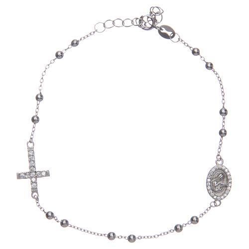 Braccialetto decina Santa Rita silver zirconi bianchi argento 925 1