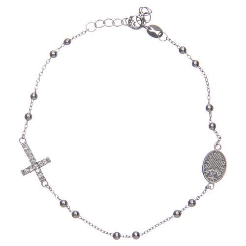 Braccialetto decina Santa Rita silver zirconi bianchi argento 925 2