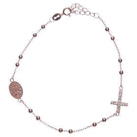 Bracciale rosario Santa Rita rosé zirconi bianchi argento 925 s2