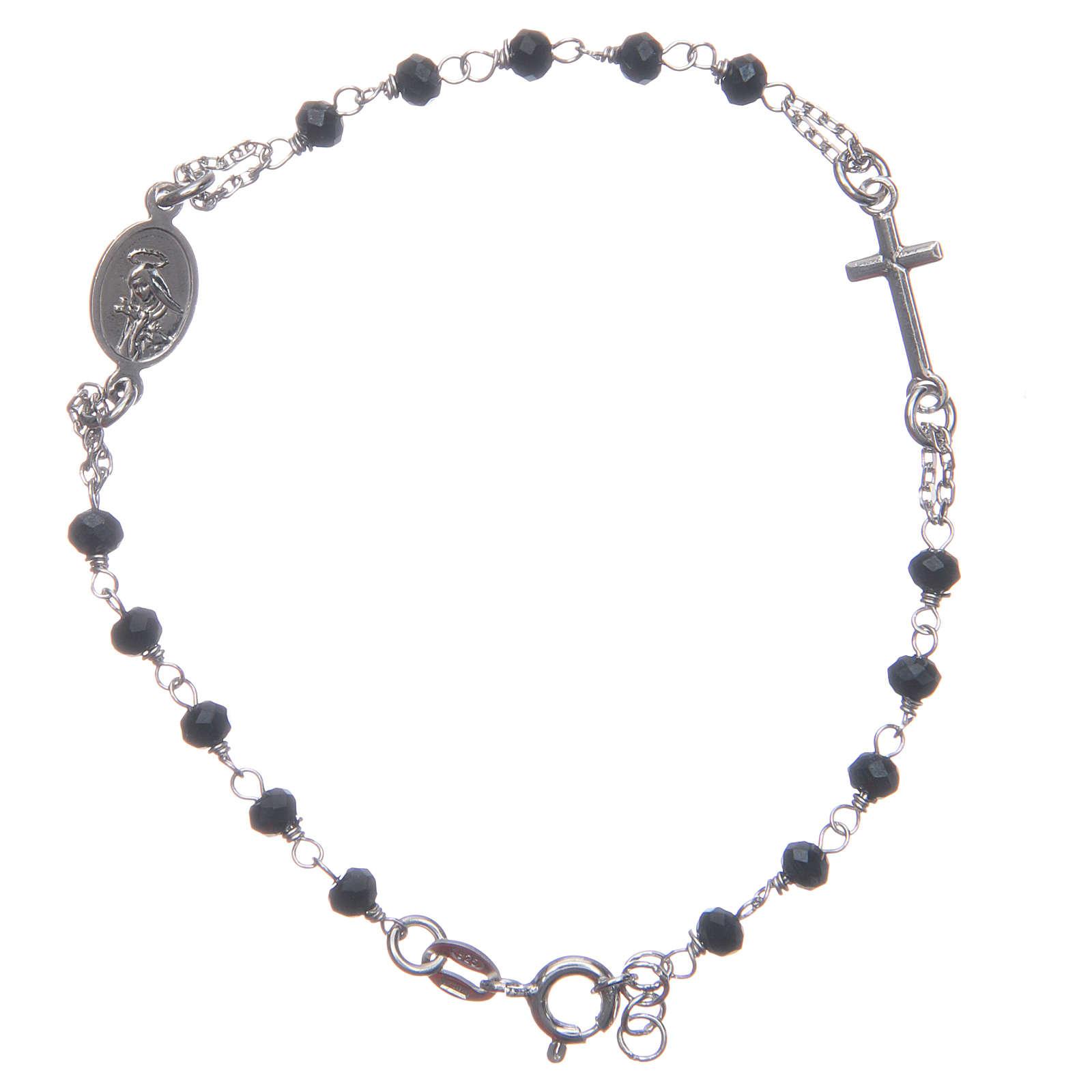 Pulsera rosario color azul Santa Rita de plata 925 4