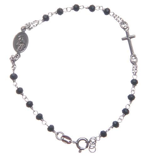 Pulsera rosario color azul Santa Rita de plata 925 2