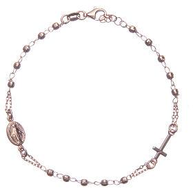 Pulsera rosario color rosado Santa Rita plata 925 s1