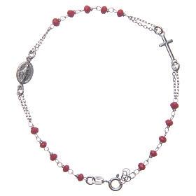 Pulsera rosario color rojo Santa Rita plata 925 s1