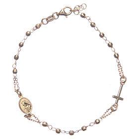 Armband Rosenkranz Santa Rita aus 925er Silber, gold s1