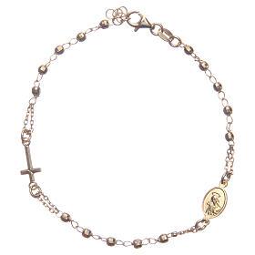 Armband Rosenkranz Santa Rita aus 925er Silber, gold s2
