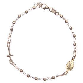 Bransoletka różaniec kolor złoty Święta Rita srebro 925 s2