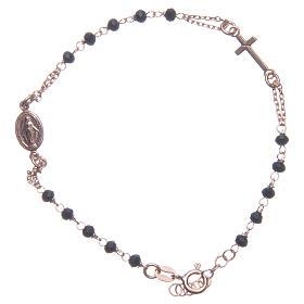 Bracciale rosario Santa Rita rosé nero argento 925 s1