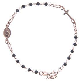 Bracciale rosario Santa Rita rosé nero argento 925 s2