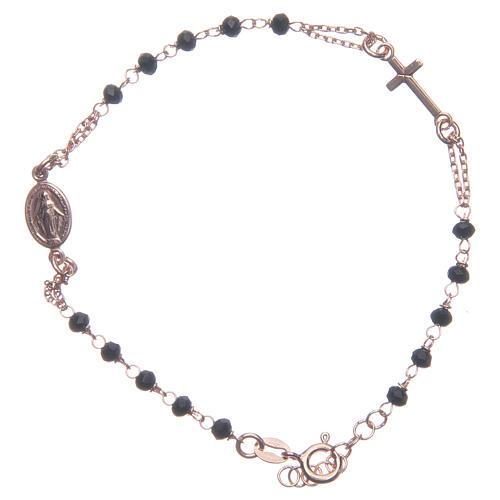 Bracciale rosario Santa Rita rosé nero argento 925 1