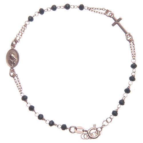Bracciale rosario Santa Rita rosé nero argento 925 2