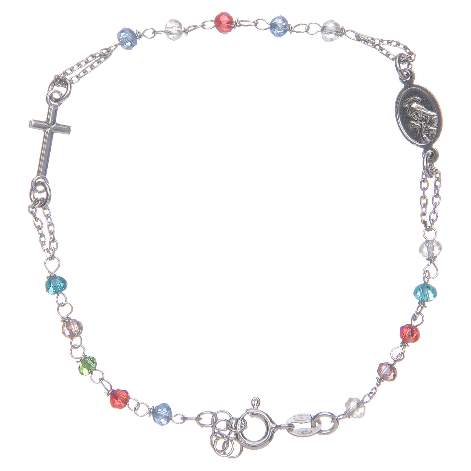 Pulsera rosario multicolor Santa Rita plata 925 4