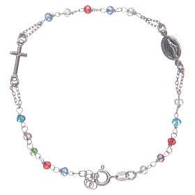 Pulsera rosario multicolor Santa Rita plata 925 s1