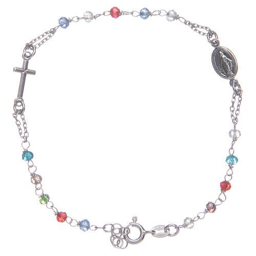 Pulsera rosario multicolor Santa Rita plata 925 1