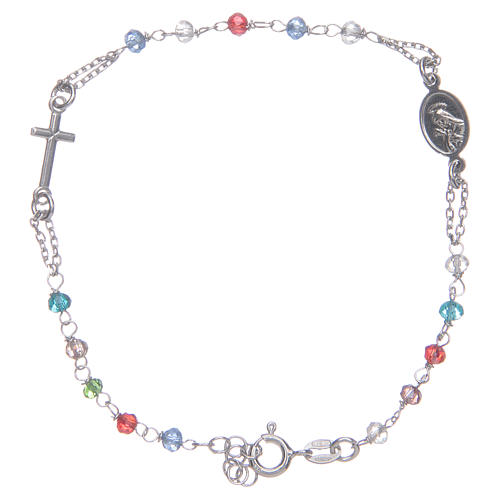 Pulsera rosario multicolor Santa Rita plata 925 2