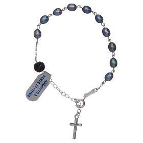 Bracciale argento 925 perle di fiume viola s2