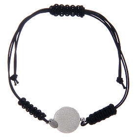 Pulsera cuerda plata 925 S. Benito plateada zircones negros s2