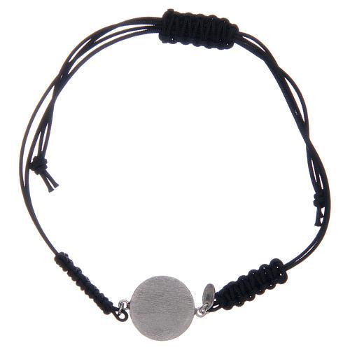 Bracelet corde argent 925 St Benoît argenté zircons blancs 2