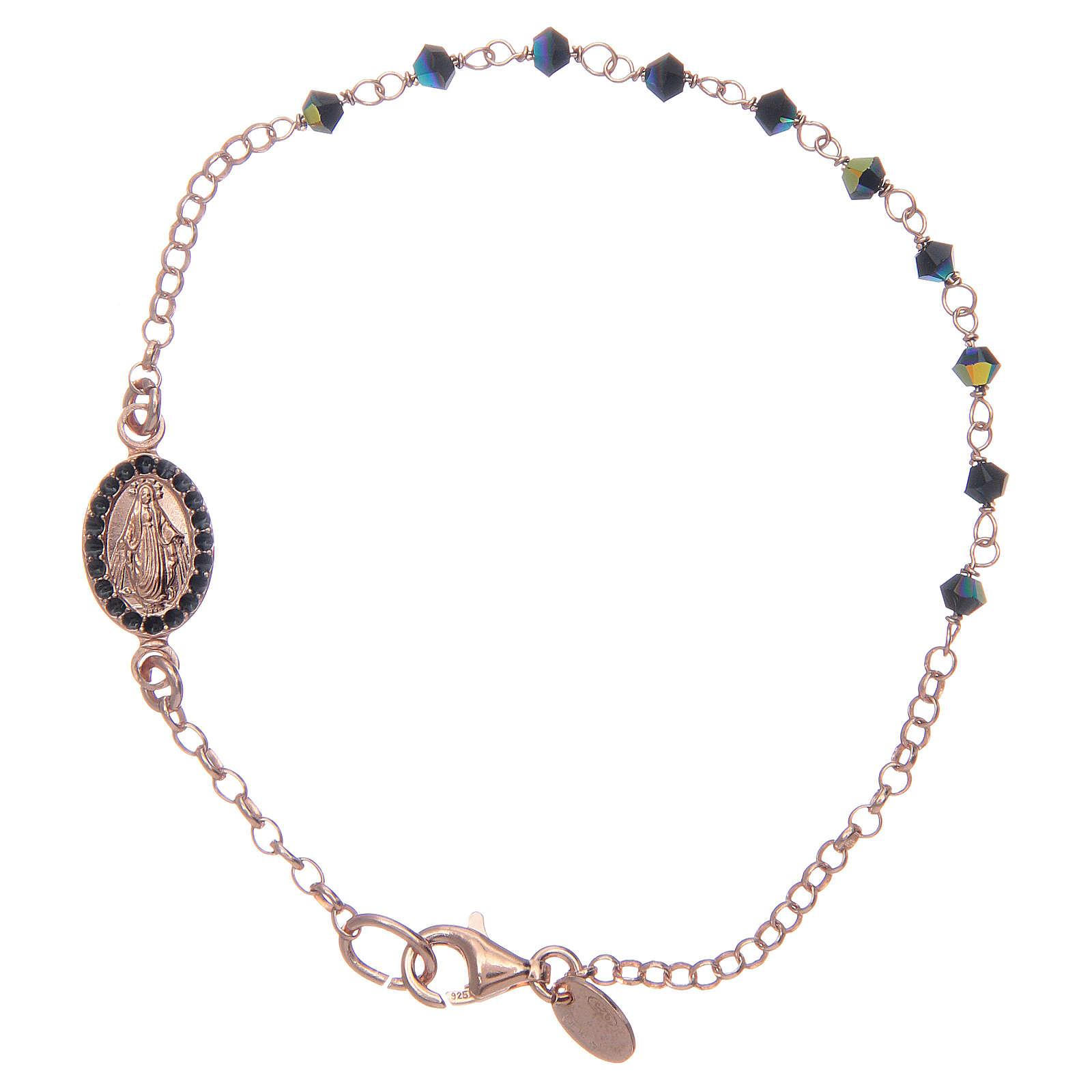Bracelet in 925 sterling silver blue with Swarovski 4