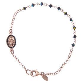 Bracciale rosario argento 925 Swarovski blu s1