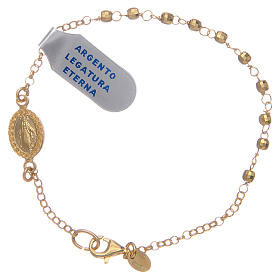 Silver bracelets: Dozen rosary bracelet Weight of the jewel: 2,10 grammes gold and multifaceted
