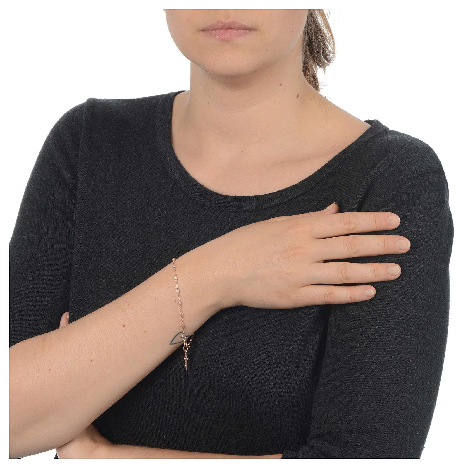 Bracciale rosario in Argento 925 rosato 4