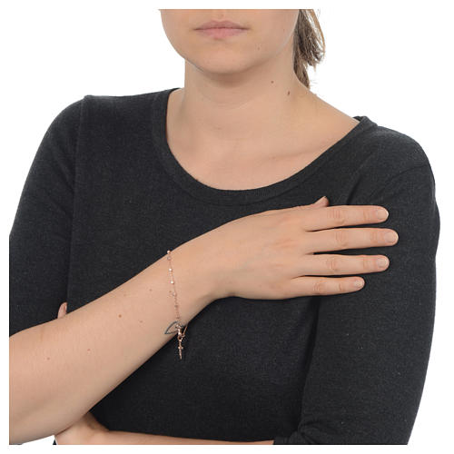 Bracciale rosario in Argento 925 rosato 3