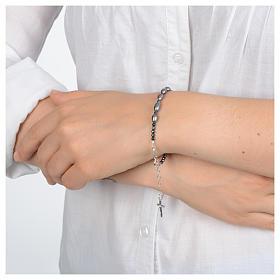 Bracciale in argento 800 e perle di fiume grigie s3