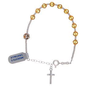 Zehner Armband Silber 925 gelbe Swarovski Perlen s2