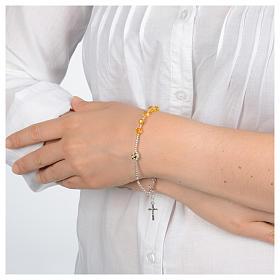 Bracelet chapelet avec Swarovski jaunes en argent 925 s3
