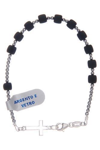Bracciale a rosario argento 925 di colore nero 1