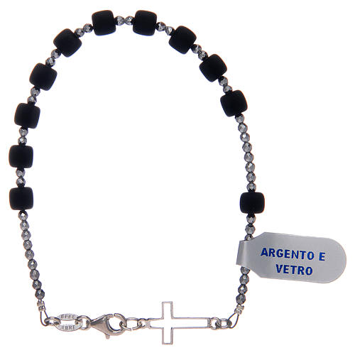Bracciale a rosario argento 925 di colore nero 2