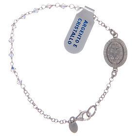Bracciale zirconi trasparenti medaglietta miracolosa argento 925 s2