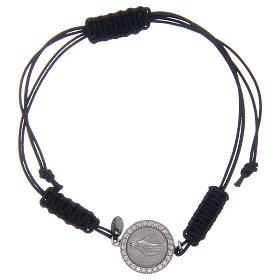 Bracelet corde Médaille Miraculeuse en argent 925 s1