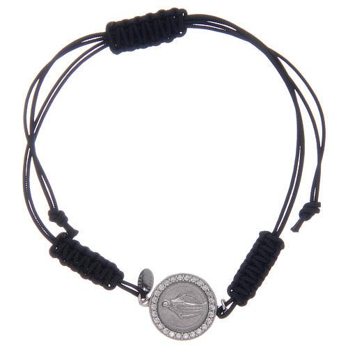 Bracelet corde Médaille Miraculeuse en argent 925 1