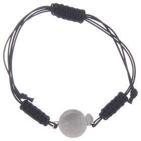 Bracciale cordino Medaglia Miracolosa in argento 925